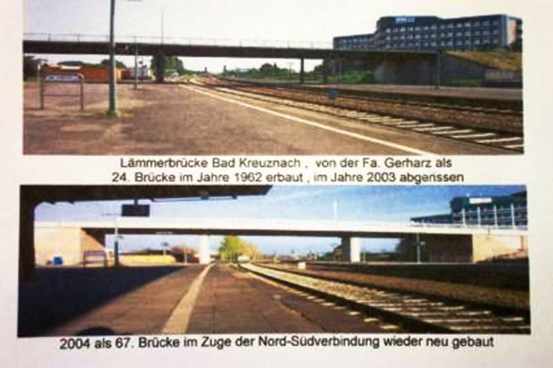Brücken-Neubau im Bahngelände in Bad Kreuznach