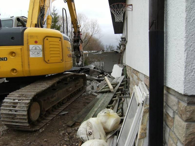 Abbruch des Einfamilienhauses in Bad Kreuznach