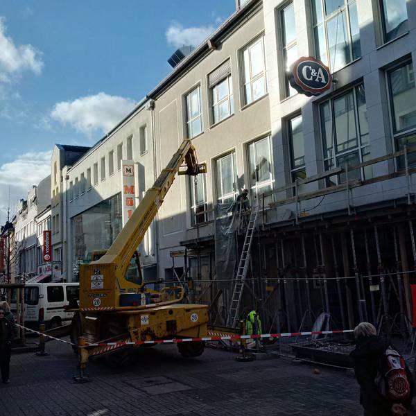 Abbrucharbeiten in der Kreuzstraße in Bad Kreuznach