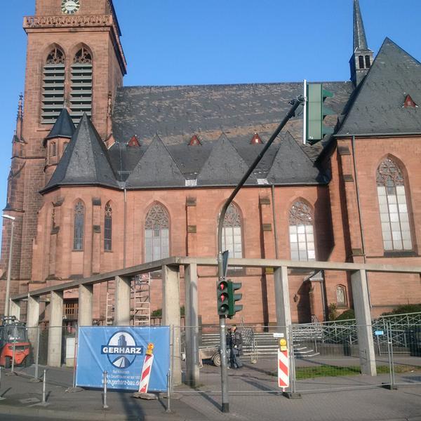 Rückbau und Entsorgung Betonbalustrade Kreuzkirche Bad Kreuznach
