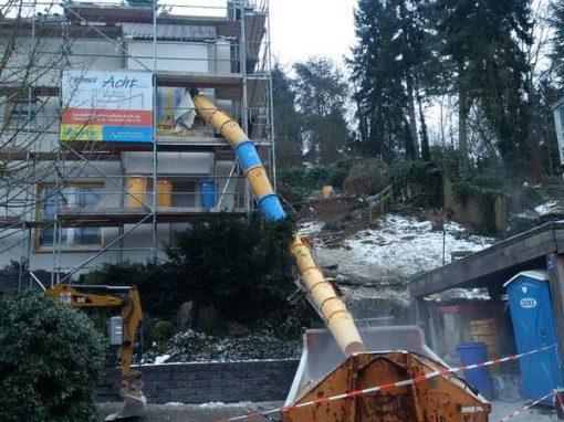 Abbruch von zwei Einfamilienhäusern